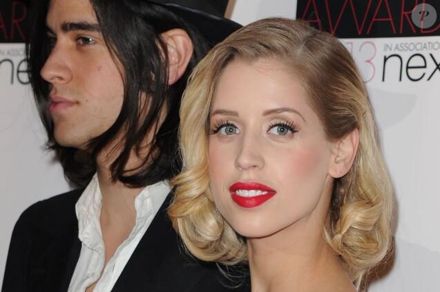 """Peaches Geldof, enceinte, et son mari Thomas Cohen - People a la soiree """"ELLE Style Awards"""" a l'hotel Savoy a Londres, le 11 fevrier 2013"""
