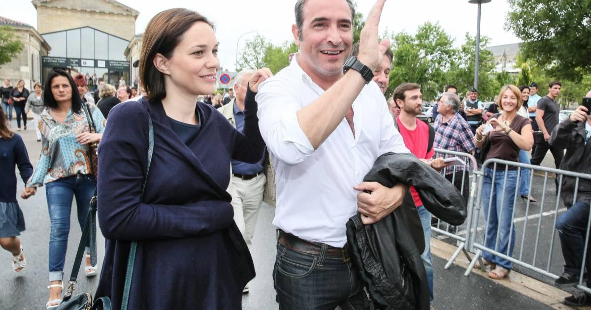 Jean dujardin et sa compagne nathalie p chalat l for Bebe jean dujardin