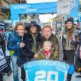"""Le footballeur Andreas Wernig, Lilly Becker, son mari Boris Becker et leur fils Amadeusau """"Formula Snow 2015"""" à Saalbach - Hinterglemm le 5 décembre 2015"""