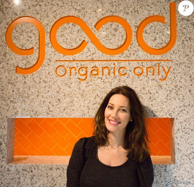 Exclusif - Mareva Galanter présente pour l'ouverture de la première boutique Good Organic Only à Paris, le 8 décembre 2015.