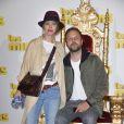 """Anne Marivin, enceinte, et son compagnon Joachim Roncin - Avant-première du film """"Les Minions"""" au Grand Rex à Paris le 23 juin 2015."""