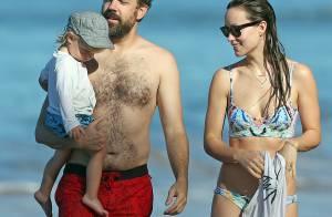 Olivia Wilde : Sublime en bikini au côté de Jason Sudeikis et son adorable fils