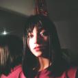 Chloé Jouannet, fille d'Alexandra Lamy, métamorphosée en brune (photo postée le 10 décembre 2015)