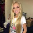 Katie Price a publié une photo de sa fille Princess maquillée alors qu'elle n'a que 8 ans sur sa page Instagram, le 16 décembre 2015.