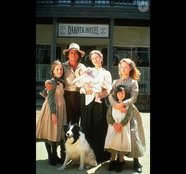 """La Petite maison dans la prairie"" : Karen Grassle, Melissa Gilbert, Melissa Sue Anderson, Michael Landon, Sidney Greenbush"
