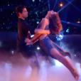 Priscilla et Christophe Licata dans leur ultime danse, lors de la finale de  Danse avec les stars 6  sur TF1, le mercredi 23 décembre 2015.