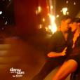 Olivier Dion et Candice Pascal sur un tango, lors de la finale de  Danse avec les stars 6  sur TF1, le mercredi 23 décembre 2015.