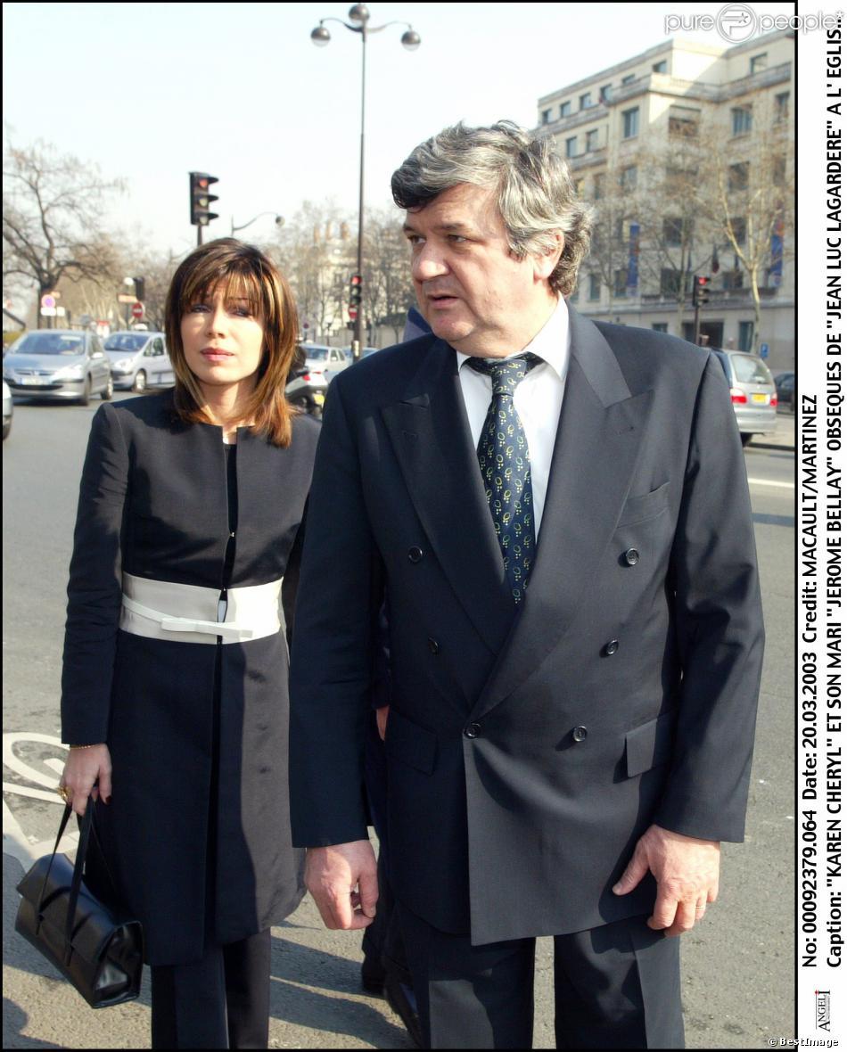 Isabelle Morizet (Karen Cheryl) et son mari Jérôme Bellay en mars 2003 à Paris.