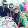 Sofia Vergara, son mari Joe Manganiello et son fils Manolo au lendemain de son mariage / photo postée sur le compte Instagram de Manolo Gonzalez.