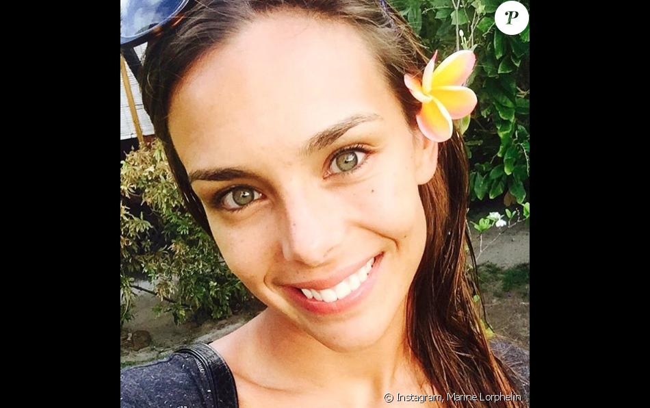 Marine Lorphelin sans maquillage à Tahiti le 29 décembre 2015.