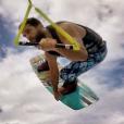 Christophe, le petit ami de Marine Lorphelin, à Tahiti en 2015.