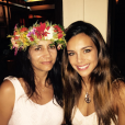 Marine Lorphelin et sa mère, le 25 décembre 2015 à Tahiti.