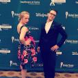 Kris Allen et sa femme Katy lors du Global Genes Gala, le 24 septembre 2015. Photo postée sur Instagram au mois de septembre 2015.
