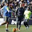 Premier entraînement de Zinedine Zidane en tant qu'entraîneur de l'équipe du Real Madrid, le 5 janvier 2016.