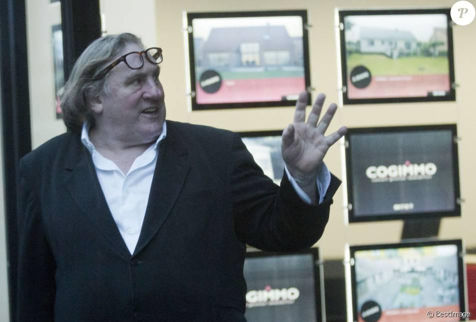 Exclusif - Gérard Depardieu à Tournai en Belgique le 28 janvier 2014. Gérard Depardieu, propriétaire de l'ancien espace Pic-Puce, voulait y aménager un espace dégustation sur le thème du vin