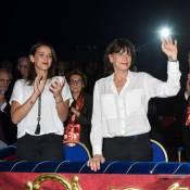 Stéphanie de Monaco et Pauline Ducruet : Dimanche au cirque avec Robert Hossein