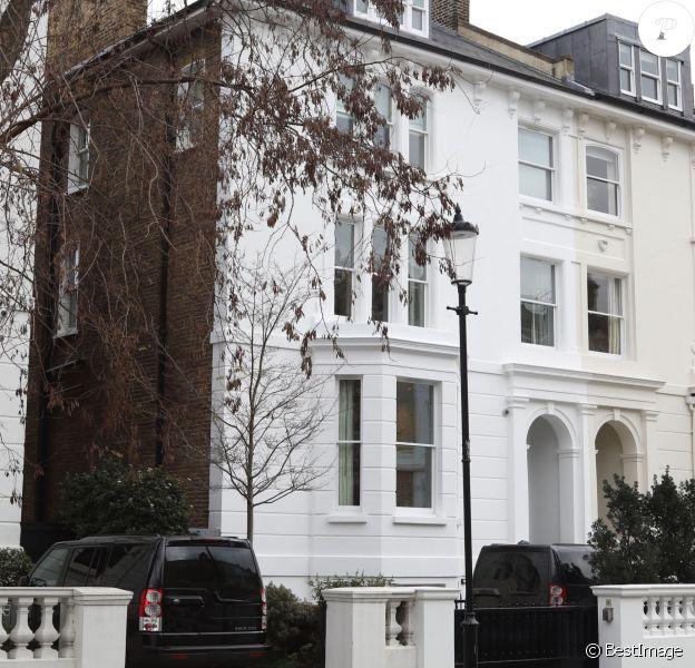 La maison de James Matthews dans la quartier de Chelsea, à Londres, le 18 janvier 2016, où Pippa Middleton se serait installée, à peine plus de deux mois après le début de leur relation.