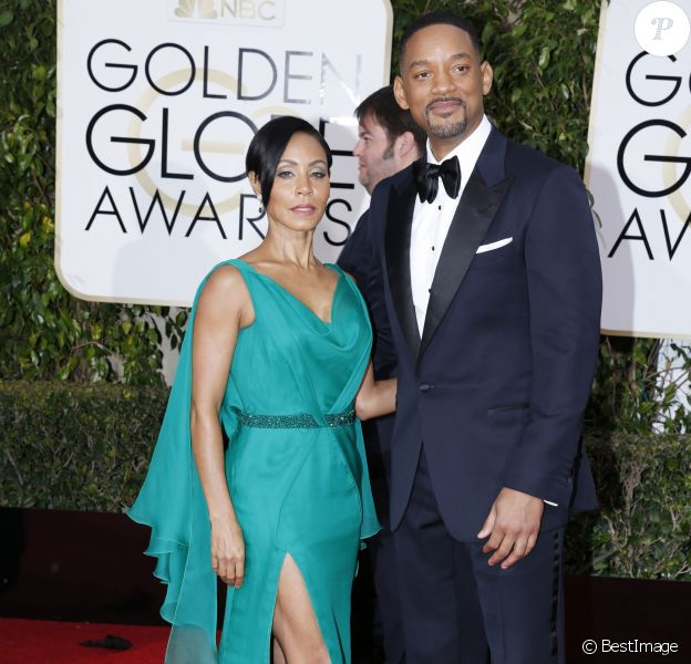 Will Smith et sa femme Jada Pinkett Smith - La 73e cérémonie annuelle des Golden Globe Awards à Beverly Hills, le 10 janvier 2016. © Olivier Borde/Bestimage