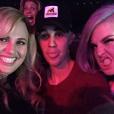 Rebel Wilson, Justin Bieber et Kelly Osbourne au concert de Jennifer Lopez à Las Vegas, le 20 janvier 2016.