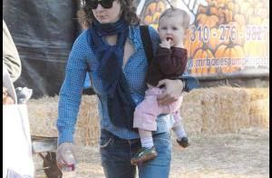 REPORTAGE PHOTOS : Sara Gilbert, un tendre tête-à tête avec sa dernière née...