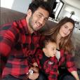 Barbara Morel, Maxime Mermoz et leur fils Aaron - Photo publiée le 6 décembre 2015