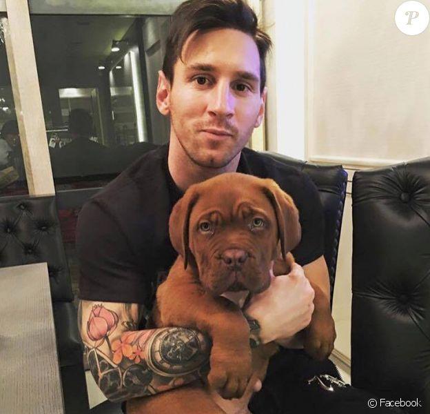 Lionel Messi présente son nouveau chien - janvier 2016