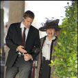 Sheila Farebrother au mariage civil de son fils Elton John avec Daivd Furnish, le 21 décembre 2005 au Guildhall, Windsor
