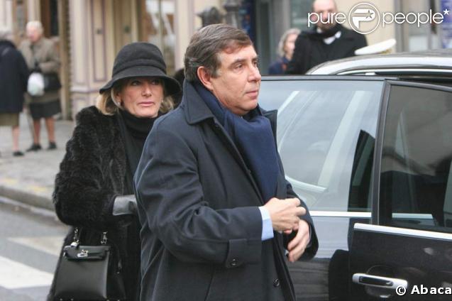 Jean-Pierre Foucault et sa femme, Evelyne le 21/02/2005 à Paris