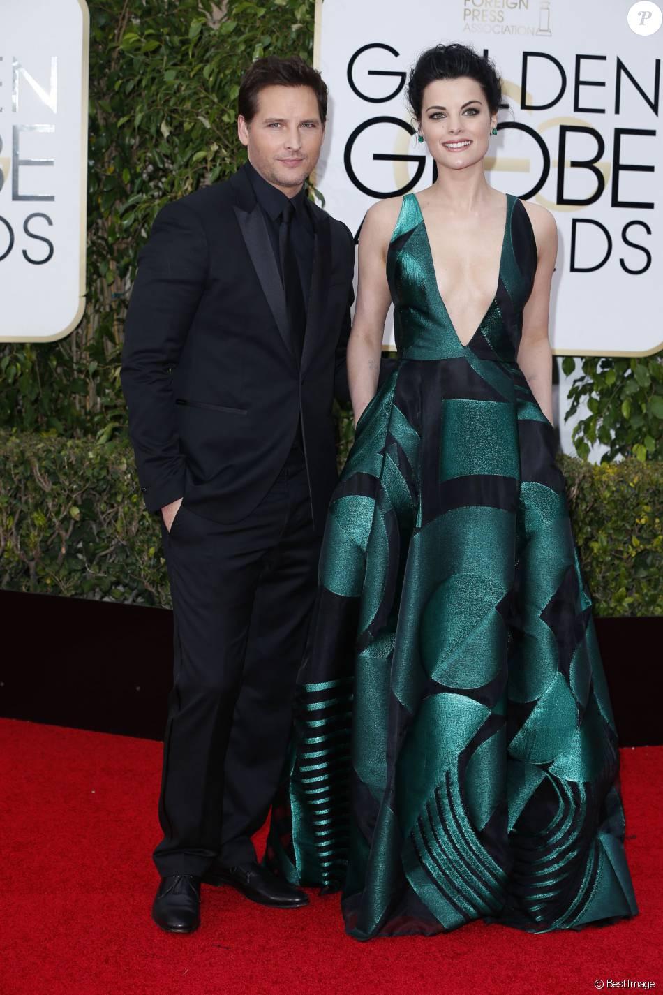 Peter Facinelli et sa fiancée Jaimie Alexander à la La 73ème cérémonie annuelle des Golden Globe Awards à Beverly Hills, le 10 janvier 2016. © Olivier Borde/Bestimage