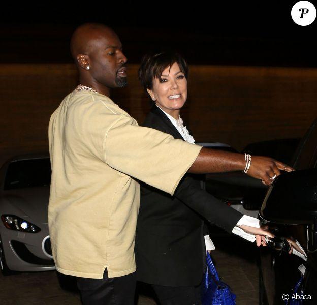 Kris Jenner et Corey Gamble à Malibu, Los Angeles, le 21 février 2016.