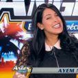 """Ayem Nour, enceinte, lors de la première de son émission le """"Mad Mag"""" sur NRJ12. Le 22 février 2015."""