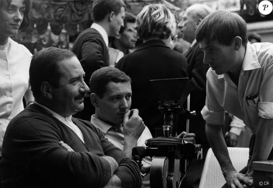 Jean Rabier, à gauche, avec Claude Zidi et Claude Chabrol sur le tournage du Boucher.