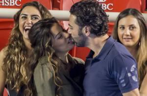 Eva Longoria et José : Baisers complices et câlins en plein match...