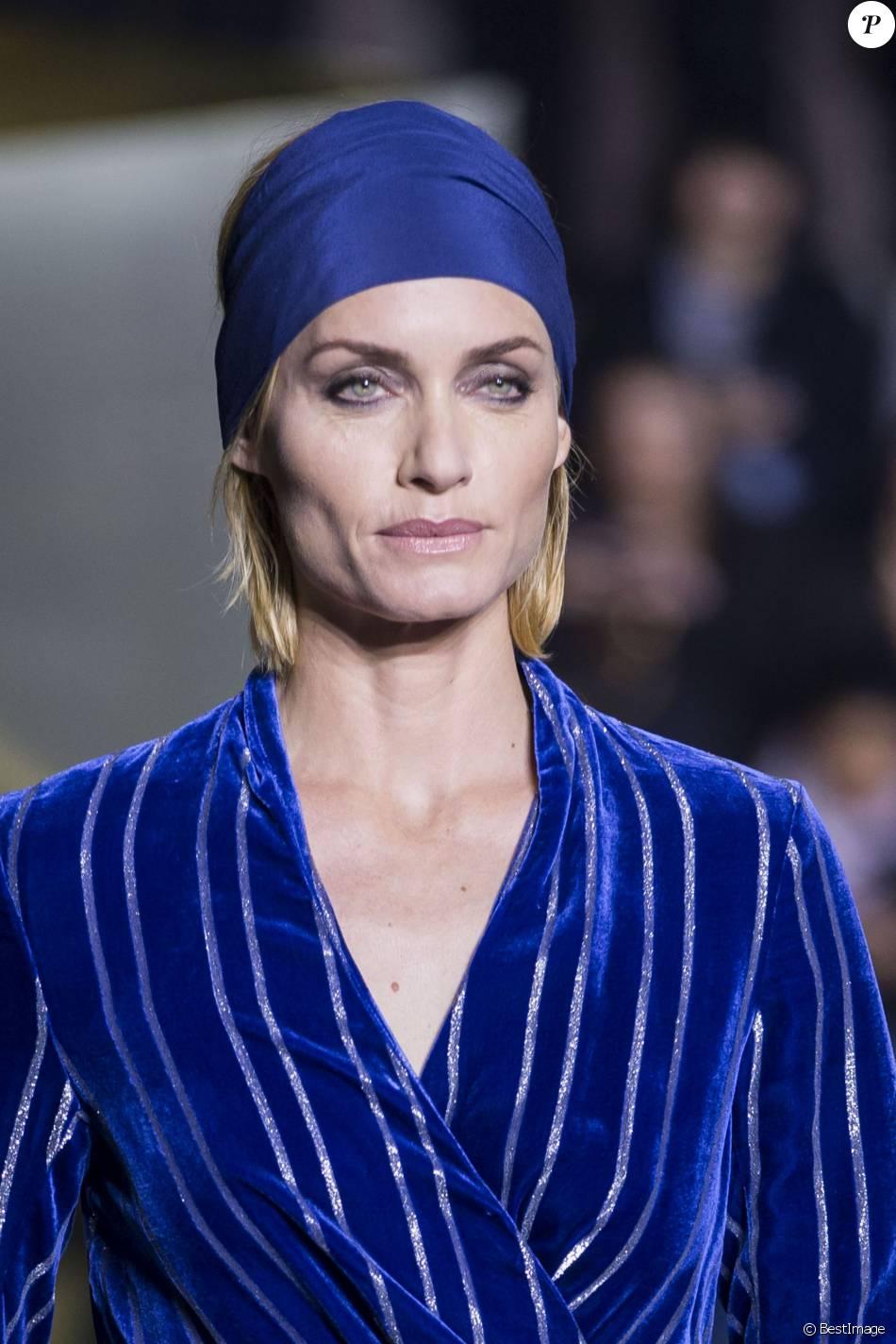 Amber Valletta - Défilé de mode H&M, collection prêt-à-porter automne-hiver 2016-2017 à Paris le 2 mars 2016. © Olivier Borde/Bestimage