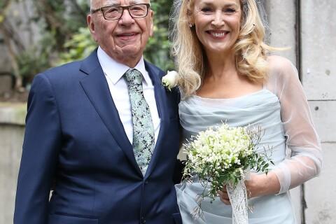 Jerry Hall et Rupert Murdoch : Mariés et comblés en présence de leurs enfants