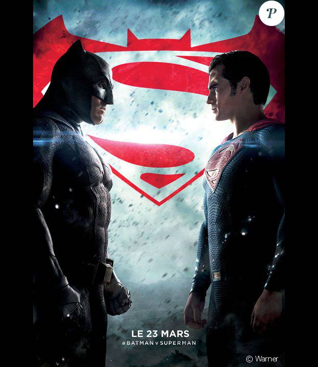 Affiche du film Batman V Superman : L'Aube de la justice, en salles le 23 mars 2016