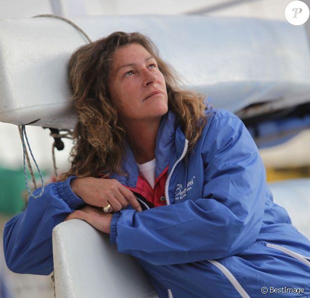 Florence Arthaud au club nautique de Nice, le 17 octobre 2009.