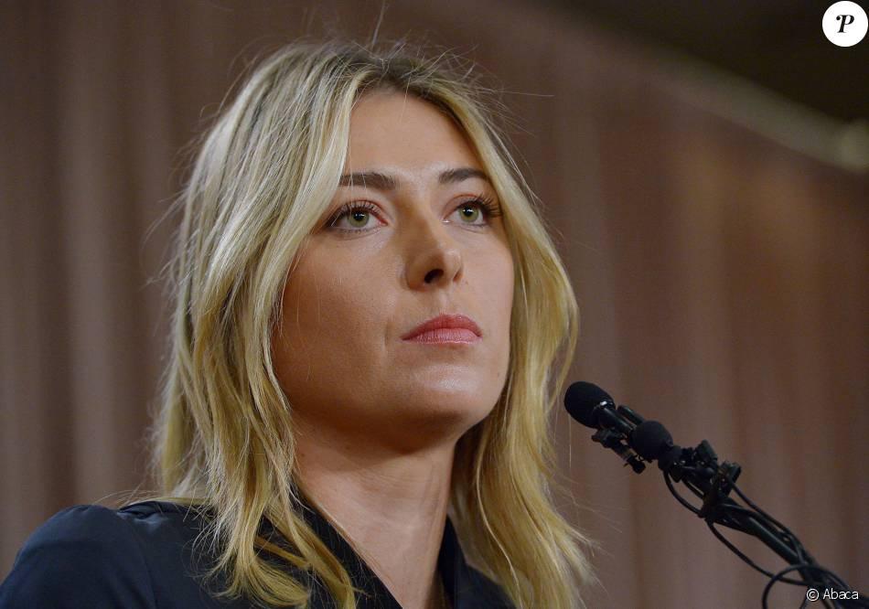 Maria Sharapova lors de sa conférence de presse au LA Hotel Downtown à Los Angeles, le 7 mars 2016.