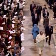 La reine Elizabeth II, le prince Philip, le prince William, Kate Middleton, le prince Harry et le prince Andrew ont pris part le 14 mars 2016 au service religieux célébré en l'abbaye de Westminster pour le Commonwealth Day.