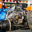 Ce qu'il reste de la McLaren de Fernando Alonso après son accident lors du Grand Prix d'Australie, le 20 mars 2016 à Melbourne.