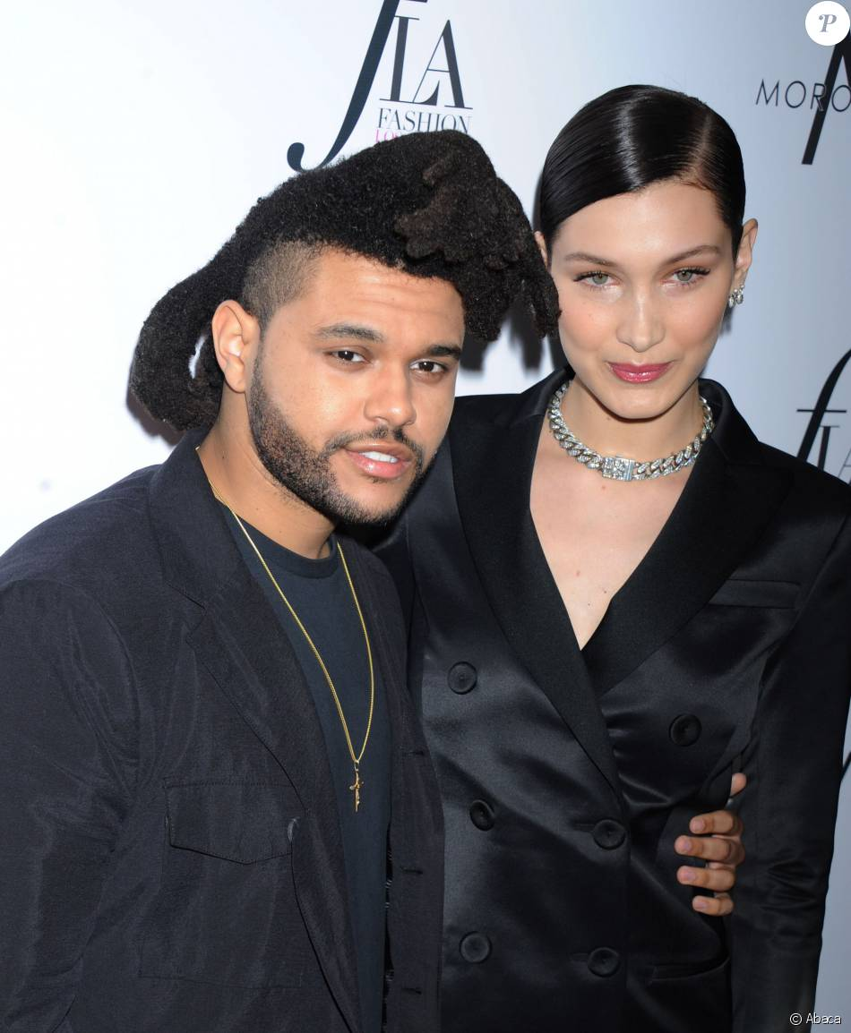 Bella Hadid et The Weeknd à la soirée Daily Front Row'sà Los Angeles le 20 mars 2016