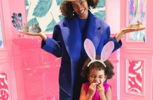 Beyoncé Knowles : Sa petite Blue Ivy, adorable lapin de Pâques avec Tata Solange