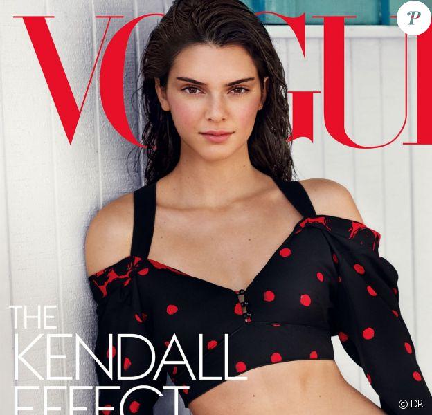 Kendall Jenner en couverture du numéro spécial de Vogue. Photo par Mario Testino.