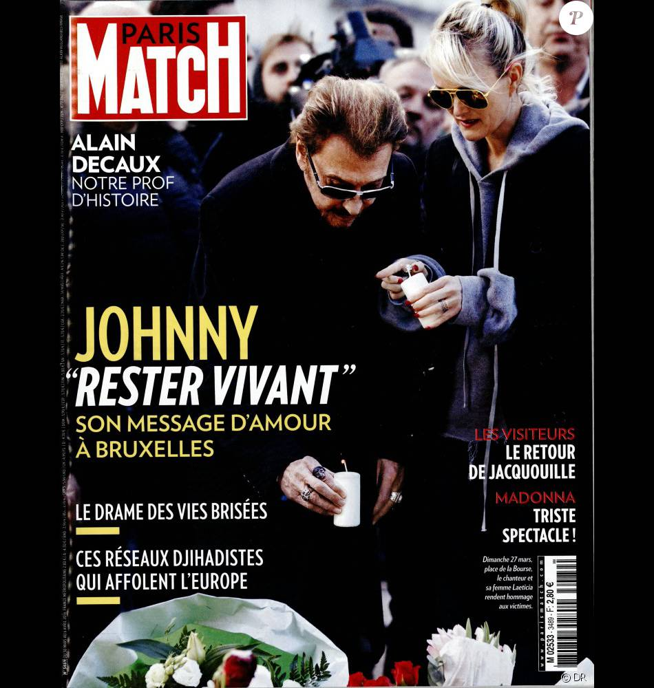 retrouvez l 39 int gralit de l 39 interview de johnny hallyday dans le magazine paris match en. Black Bedroom Furniture Sets. Home Design Ideas