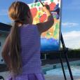 Victoria Beckham a publié une photo de sa fille Harper sur sa page Instagram, le 4 avril 2016.