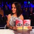 Alizée dans le jury de SuperKids sur M6 lors du tournage, mars 2016.