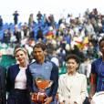 Le prince Albert II et la princesse Charlene de Monaco ont applaudi la victoire de Rafael Nadal en finale du Monte-Carlo Rolex Masters 2016 face à Gaël Monfils au Monte-Carlo Country Club à Roquebrune-Cap-Martin, le 17 avril 2016. © Claudia Albuquerque/Bestimage