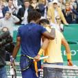 Rafael Nadal et Gaël Monfils s'affrontaient en finale du Monte-Carlo Rolex Masters 2016 au Monte-Carlo Country-Club à Roquebrune-Cap-Martin, le 17 avril 2016. L'Espagnol s'est imposé en trois sets, remportant pour la neuvième fois le tournoi monégasque © Claudia Albuquerque/Bestimage