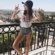 Sonia Ben Ammar, l'ancienne petite amie de Brooklyn Beckham, a publié une photo d'elle lors du festival de Coachella sur sa page Instagram, le 18 avril 2016.