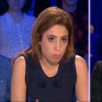 """Face à Léa Salamé Amélie Mauresmo parle de son  coming out  dans """"On n'est pas couché"""" sur France 2, le 23 avril 2016."""